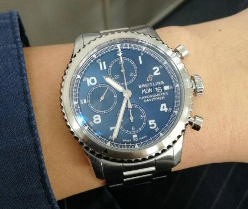 The Breitling will be suitable for men who have thin wrists too.