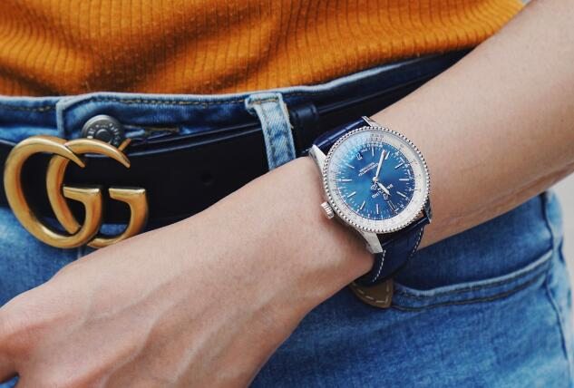 The blue dial Navitimer will be suitable for any occasion.