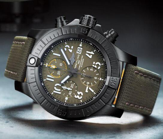 The military styled Breitling Avenger looks strong and robust.