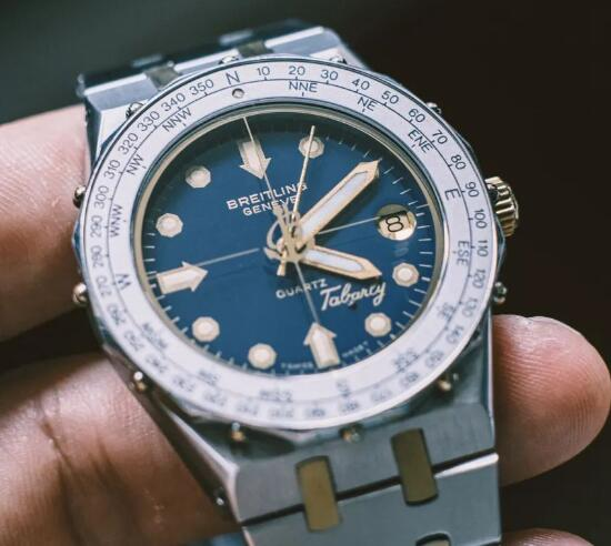 The timepiece with blue dial is good choice for men.